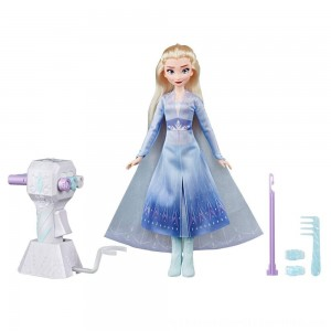 Black Friday 2020 | Disney Frozen 2 Sister Styles Elsa Fashion Doll With Extra-Long Blonde Hair, Braiding Tool and Hair Clips