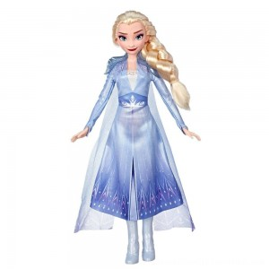 Black Friday 2020 | Disney Frozen 2 Elsa Fashion Doll With Long Blonde Hair and Blue Outfit