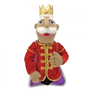 Black Friday 2020 | Melissa & Doug King Puppet With Detachable Wooden Rod for Animated Gestures