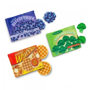 Black Friday 2020 | Melissa & Doug Store and Serve Frozen Food Resealable Cloth Bags With Wooden Play Food