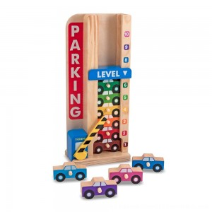 Black Friday 2020 | Melissa & Doug Stack & ct Wooden Parking Garage With 10 Cars