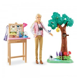 Black Friday 2020 | Barbie National Geographic Butterfly Scientist Playset