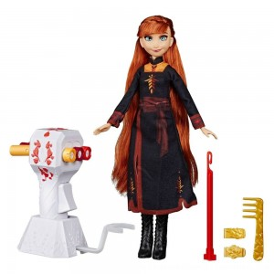 Black Friday 2020 | Disney Frozen 2 Sister Styles Anna Fashion Doll With Extra-Long Red Hair, Braiding Tool and Hair Clips
