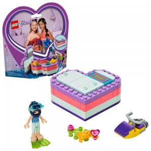 Black Friday 2020 | LEGO Friends Emma's Summer Heart Box 41385 Building Kit with Toy Scooter and Mini Doll 83pc