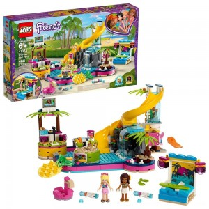 Black Friday 2020 | LEGO Friends Andrea's Pool Party 41374 Toy Pool Building Set with Mini Dolls for Pretend Play