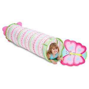 Black Friday 2020 | Melissa & Doug Sunny Patch Cutie Pie Butterfly Crawl-Through Tunnel (almost 5 feet long)