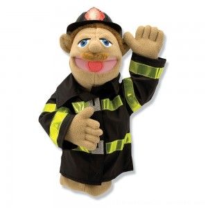 Black Friday 2020 | Melissa & Doug Firefighter Puppet With Detachable Wooden Rod