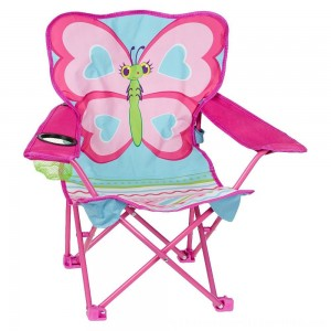 Black Friday 2020 | Melissa & Doug Sunny Patch Cutie Pie Butterfly Folding Lawn and Camping Chair