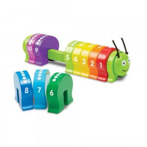 Black Friday 2020 | Melissa & Doug Counting Caterpillar - Classic Wooden Toy With 10 Colorful Numbered Segments