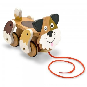 Black Friday 2020 | Melissa & Doug Playful Puppy Wooden Pull Toy for Beginner Walkers