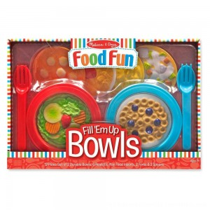 Black Friday 2020 | Melissa & Doug Create-A-Meal Fill Em Up Bowls (12pc) - Play Food and Kitchen Accessories