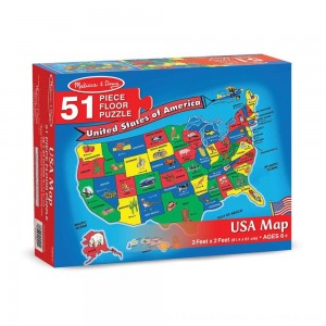 Black Friday 2020 | Melissa And Doug Usa Map Floor Puzzle 51pc