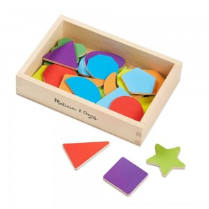 Black Friday 2020 | Melissa & Doug 25 Wooden Shape and Color Magnets in a Box