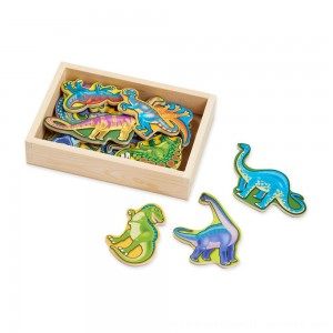 Black Friday 2020 | Melissa & Doug Magnetic Wooden Dinosaurs with Wooden Tray - 20pc