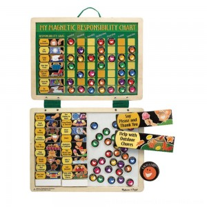 Black Friday 2020 | Melissa & Doug Deluxe Wooden Magnetic Responsibility Chart With 90 Magnets