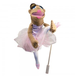 Black Friday 2020 | Melissa & Doug Ballerina Puppet - Full-Body With Detachable Wooden Rod for Animated Gestures