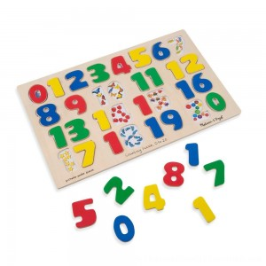 Black Friday 2020 | Melissa & Doug Numbers 0-20 Wooden Puzzle (21pc) 32pc