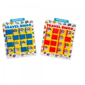 Black Friday 2020 | Melissa & Doug Flip to Win Travel Bingo Game - 2 Wooden Game Boards, 4 Double-Sided Cards, Kids Unisex