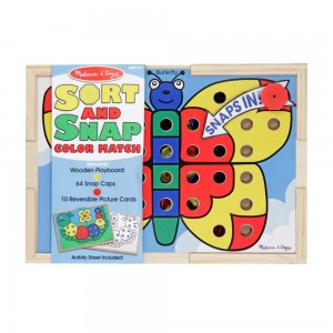 Black Friday 2020 | Melissa & Doug Sort and Snap Color Match - Sorting and Patterns Educational Toy