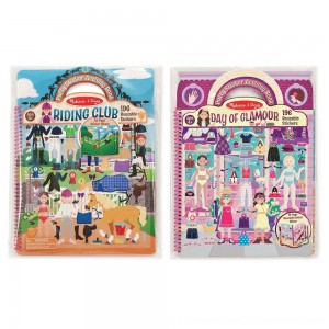 Black Friday 2020 | Melissa & Doug Deluxe Puffy Sticker Activity Book Set: Day of Glamour and Riding Club - 392 Reusable Stickers