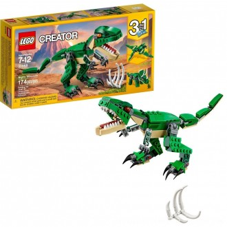 Black Friday 2020 | LEGO Creator Mighty Dinosaurs 31058 Build It Yourself Dinosaur Set, Pterodactyl, Triceratops, T Rex Toy
