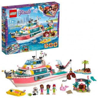 Black Friday 2020 | LEGO Friends Rescue Mission Boat 41381 Building Kit Sea Creatures for Creative Play 908pc