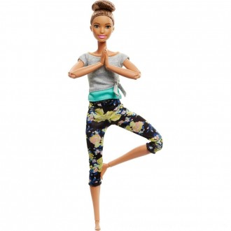 Black Friday 2020 | Barbie Made To Move Yoga Doll - Floral Blue