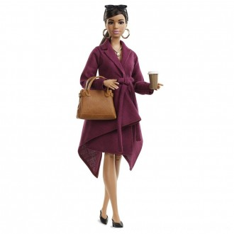 Black Friday 2020 | Barbie Signature Styled By Chriselle Lim Collector Doll in Burgundy Trench Dress
