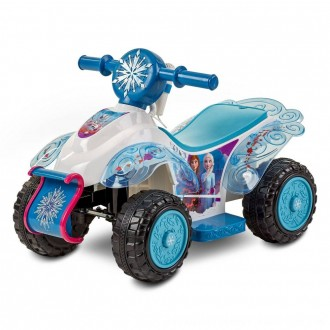 Black Friday 2020 | Frozen 2 Kid Trax Sing and Ride Toddler 6V Quad - White