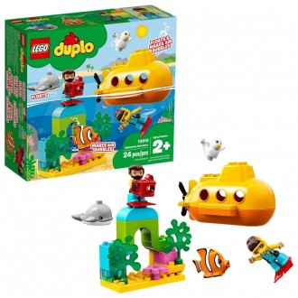 Black Friday 2020 | LEGO DUPLO Submarine Adventure 10910 Bath Toy Building Set for Toddlers with Toy Submarine 24pc