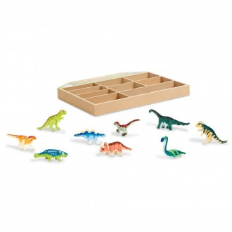 Black Friday 2020 | Melissa & Doug Dinosaur Party Play Set - 9 Collectible Miniature Dinosaurs in a Case
