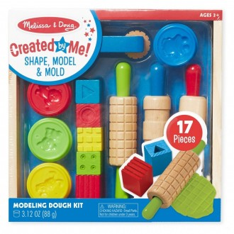 Black Friday 2020 | Melissa & Doug Shape, Model, and Mold Clay Activity Set - 4 Tubs of Modeling Dough and Tools
