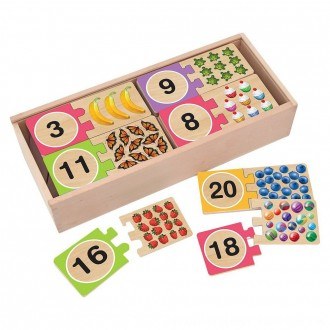Black Friday 2020 | Melissa & Doug Self-Correcting Wooden Number Puzzles With Storage Box 40pc