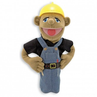 Black Friday 2020 | Melissa & Doug Construction Worker Puppet With Detachable Wooden Rod for Animated Gestures