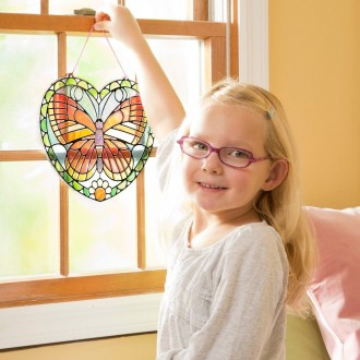 Black Friday 2020 | Melissa & Doug Stained Glass Made Easy Activity Kit: Butterfly - 140+ Stickers