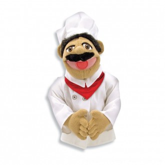 Black Friday 2020 | Melissa & Doug Chef Puppet With Detachable Wooden Rod