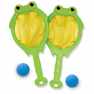 Black Friday 2020 | Melissa & Doug Sunny Patch Froggy Toss and Catch Net Game With 2 Balls