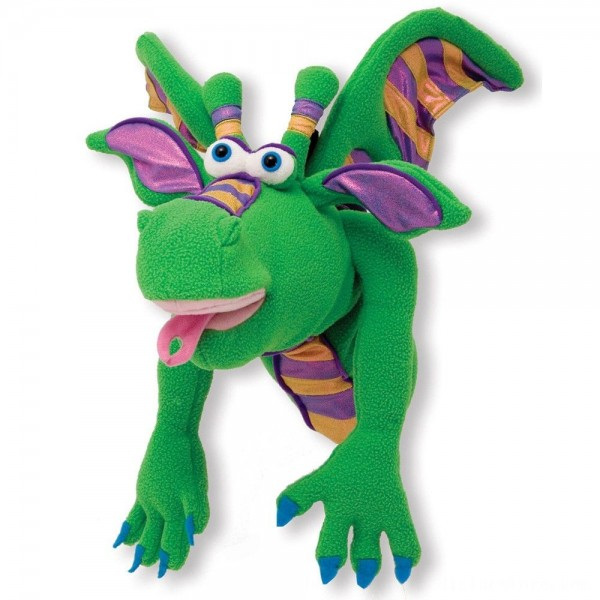 Black Friday 2020   Melissa & Doug Smoulder the Dragon Puppet With Detachable Wooden Rod for Animated Gestures