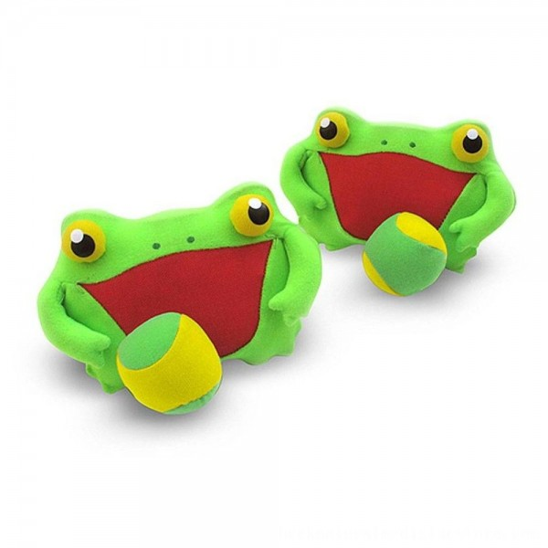 Black Friday 2020 | Melissa & Doug Sunny Patch Froggy Toss and Grip Catching Game With 2 Balls