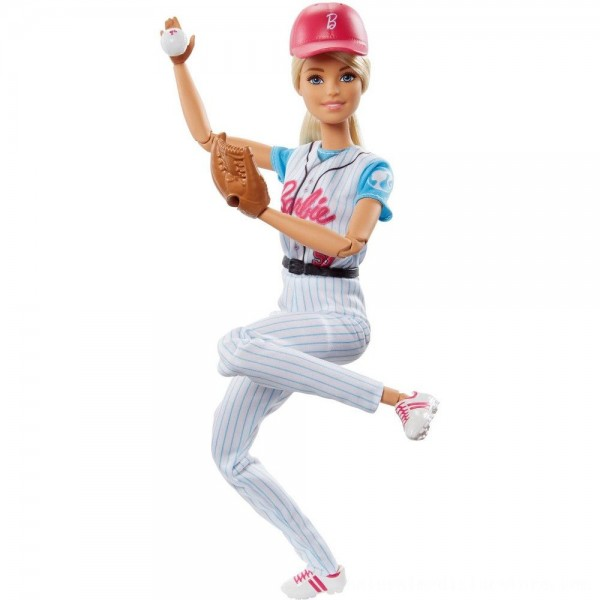 Black Friday 2020   Barbie Made to Move Baseball Player Doll