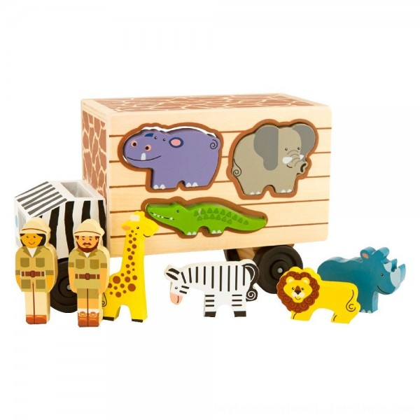 Black Friday 2020 | Melissa & Doug Animal Rescue Shape-Sorting Truck - Wooden Toy With 7 Animals and 2 Play Figures