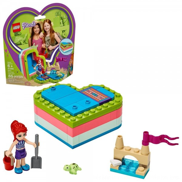 Black Friday 2020   LEGO Friends Mia's Summer Heart Box 41388 Building Kit with Turtle Figure and Mia Mini Doll 85pc