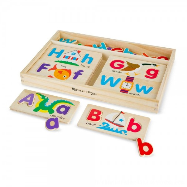 Black Friday 2020 | Melissa & Doug ABC Picture Boards - Educational Toy With 13 Double-Sided Wooden Boards and 52 Letters