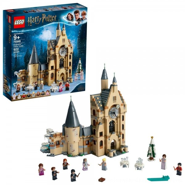 Black Friday 2020 | LEGO Harry Potter and The Goblet of Fire Hogwarts Clock Tower Castle Playset with Minifigures 75948