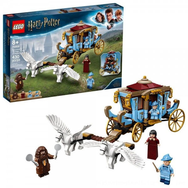 Black Friday 2020   LEGO Harry Potter Beauxbatons' Carriage: Arrival at Hogwarts 75958 Toy Carriage Building Set 430pc