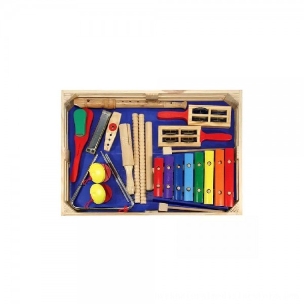 Black Friday 2020 | Melissa & Doug Deluxe Band Set With Wooden Musical Instruments and Storage Case