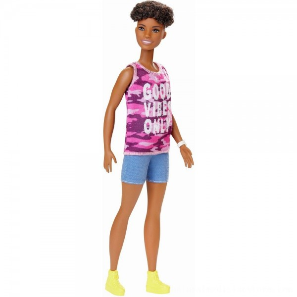 Black Friday 2020   Barbie Fashionistas Doll #128 Good Vibes Only