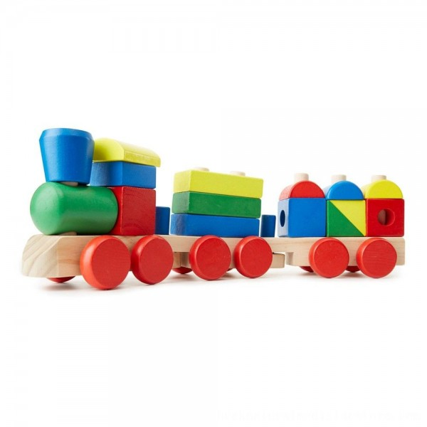 Black Friday 2020 | Melissa & Doug Stacking Train - Classic Wooden Toddler Toy (18pc)