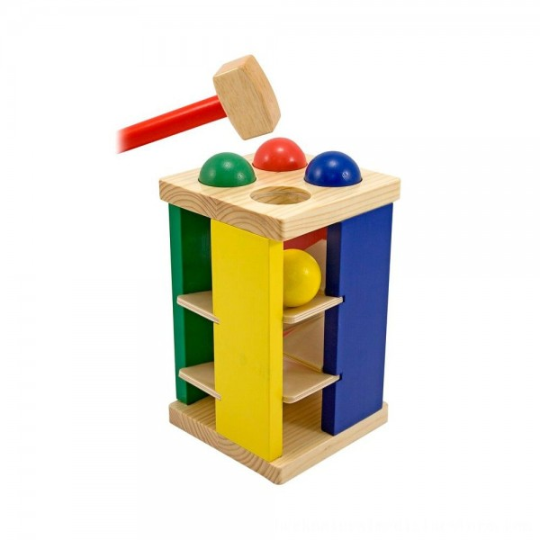 Black Friday 2020 | Melissa & Doug Deluxe Pound and Roll Wooden Tower Toy With Hammer
