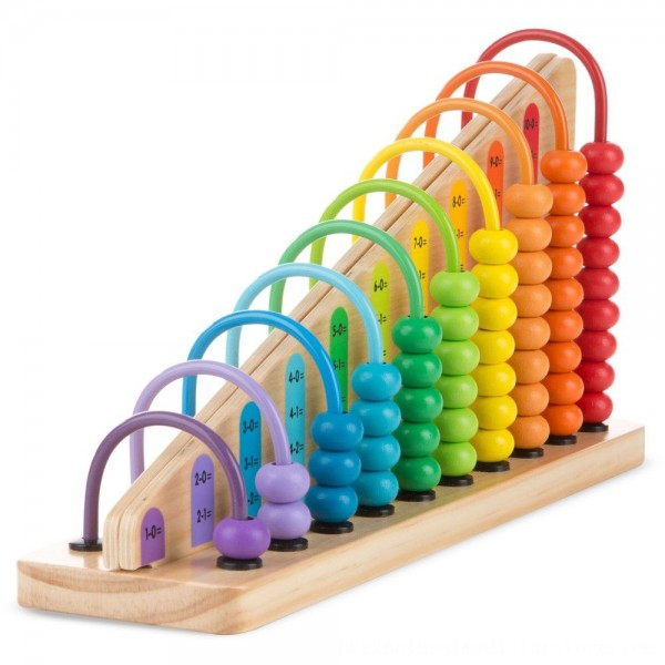 Black Friday 2020 | Melissa & Doug Add & Subtract Abacus - Educational Toy With 55 Colorful Beads and Sturdy Wooden Construction